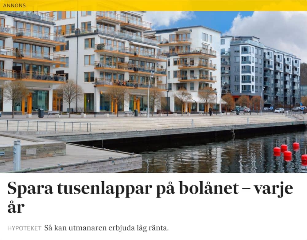 billigare lån Hypoteket annons